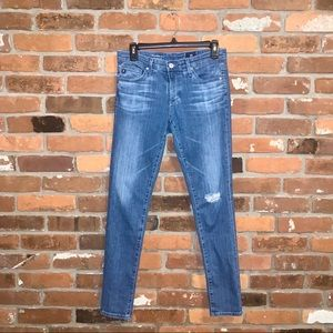Adriano Goldschmied Distressed Skinny Ankle Jeans